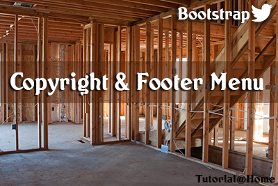 Bootstrap Footer